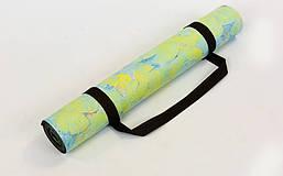 Коврик для йоги Замшевый каучуковый двухслойный 3мм Record FI-5662-34 , фото 2