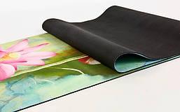 Коврик для йоги Замшевый каучуковый двухслойный 3мм Record FI-5662-34 , фото 3