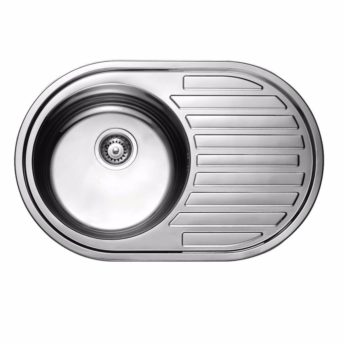 Кухонная мойка из нержавеющей стали ULA 7108 ZS DECOR