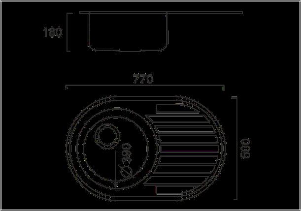Кухонная мойка из нержавеющей стали ULA 7108 ZS DECOR, фото 2