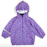 """Куртка детская сиреневая, плащ детский, дождевик для девочки H&M """"Капелька"""" рост 98-104 см, фото 2"""