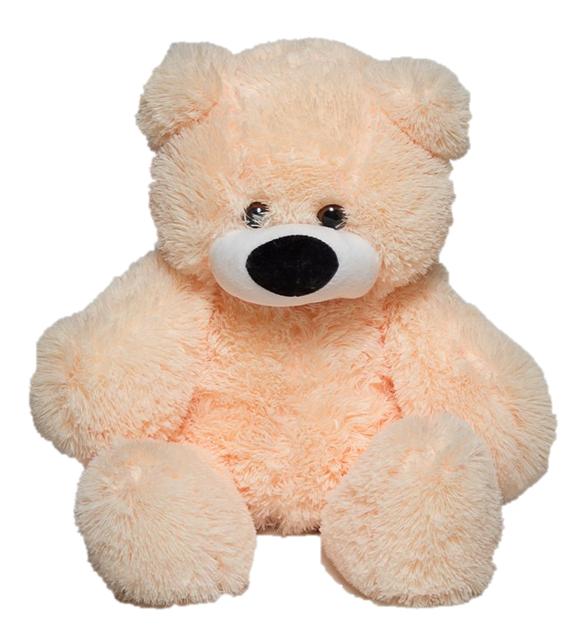 М'яка іграшка ведмедик Бублик персиковий 77 см