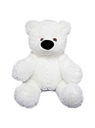 Плюшевий ведмедик Бублик білий 77 см з серцем 40см, фото 2