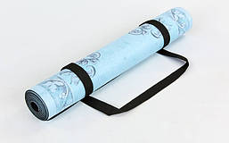 Коврик для йоги Замшевый каучуковый двухслойный 3мм Record FI-5662-35, фото 2