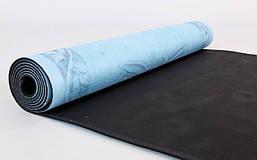 Коврик для йоги Замшевый каучуковый двухслойный 3мм Record FI-5662-35, фото 3