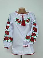"""Блуза-вышиванка женская """"Маки"""" батал, 56-62 р-ры, 390/350 (цена за 1 шт. + 40 гр.)"""