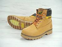 """Ботинки женские зимние замшевые с мехом Cat Caterpillar """"Желтые"""" размер 36-39"""