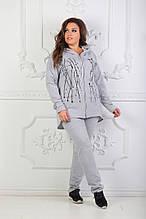 Стильный женский спортивный костюм с принтом (50-54) БАТАЛ 3расцв.