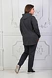 Стильный женский спортивный костюм с принтом (50-54) БАТАЛ 3расцв., фото 5