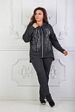 Стильный женский спортивный костюм с принтом (50-54) БАТАЛ 3расцв., фото 6