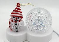 Светодиодный Диско Шар Снеговик LED Christmas Light Настольный Проектор