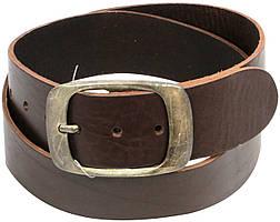 Широкий ремень под джинсы из кожи, Cramer & Co, Германия, 100121 темно коричневый, 5х118 см