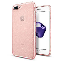 Чехол Spigen для iPhone 8 Plus / 7 Plus Liquid Crystal Glitter, Rose Quartz (043CS21759), фото 1