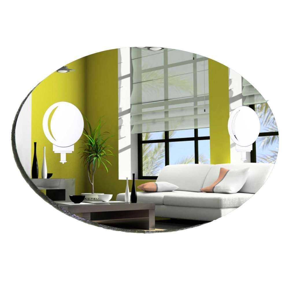 Дзеркало кругле/овальне у ванну кімнату Світильники БЦ-Стол