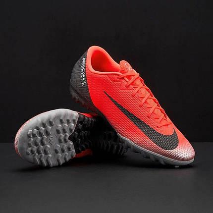 Сороконожки Nike Mercurial Vapor 12 Academy CR7 TF AJ3732-600 (Оригинал), фото 2