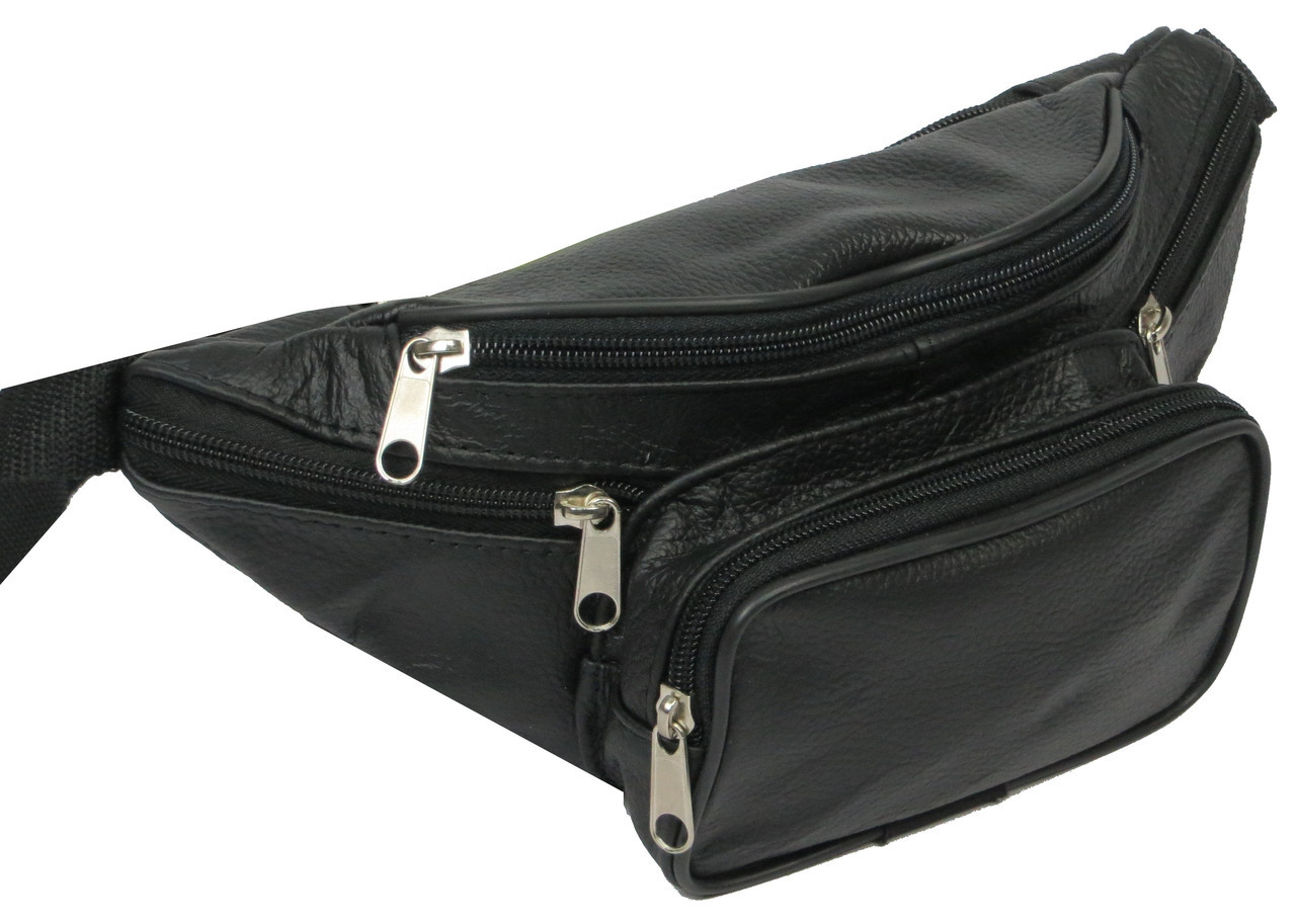 237236fb Мужская поясная сумка из кожи, чёрная, kangur duzy 856333: продажа ...