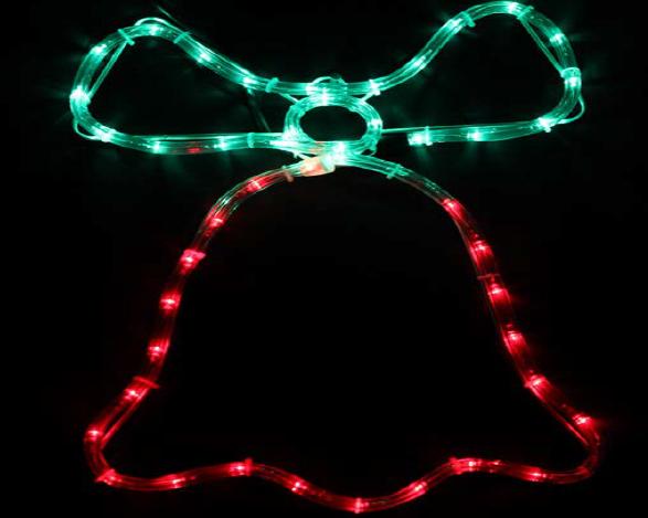Светодиодная наружная конструкция DELUX MOTIF Bell  50*35 см 3 flash красный/зеленый IP44, фото 2