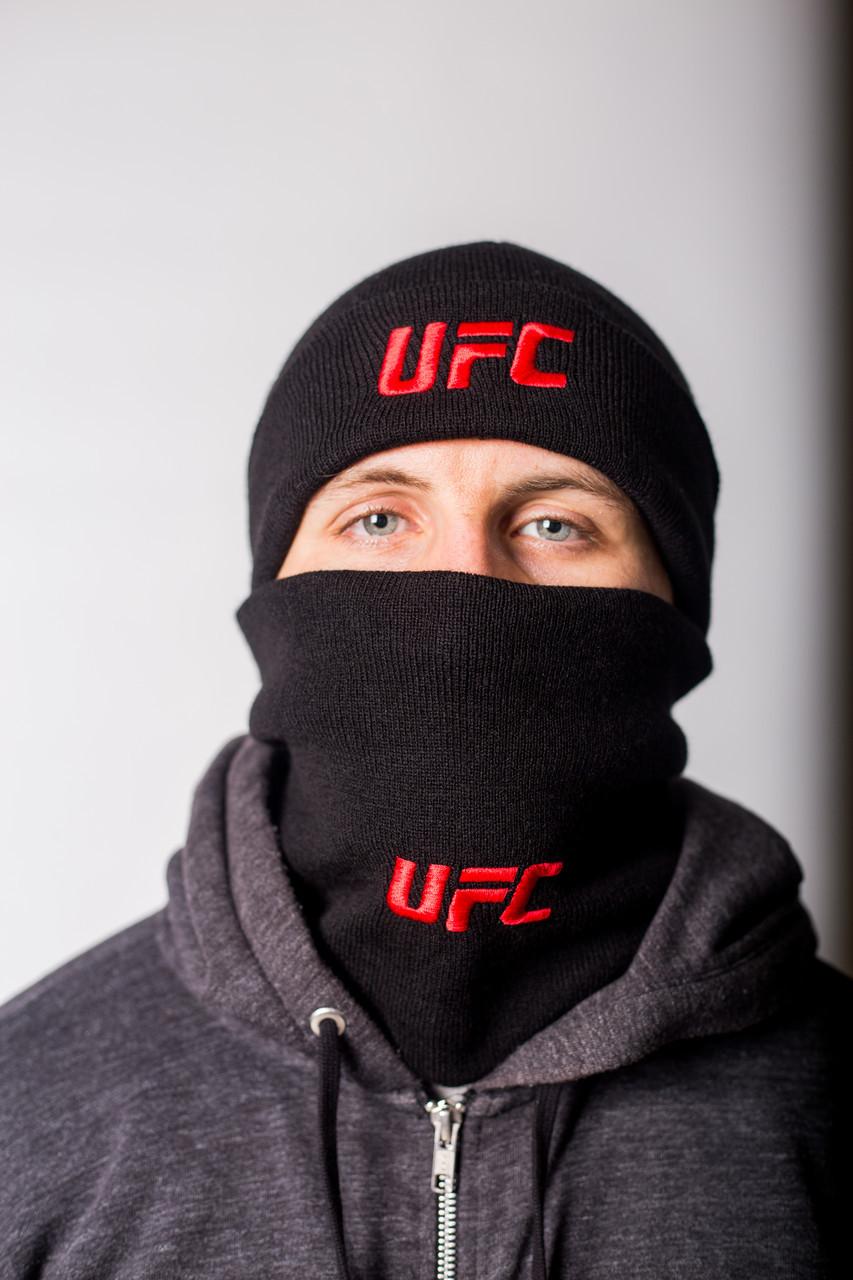 Шапка мужская черная UFC - Winter 2019