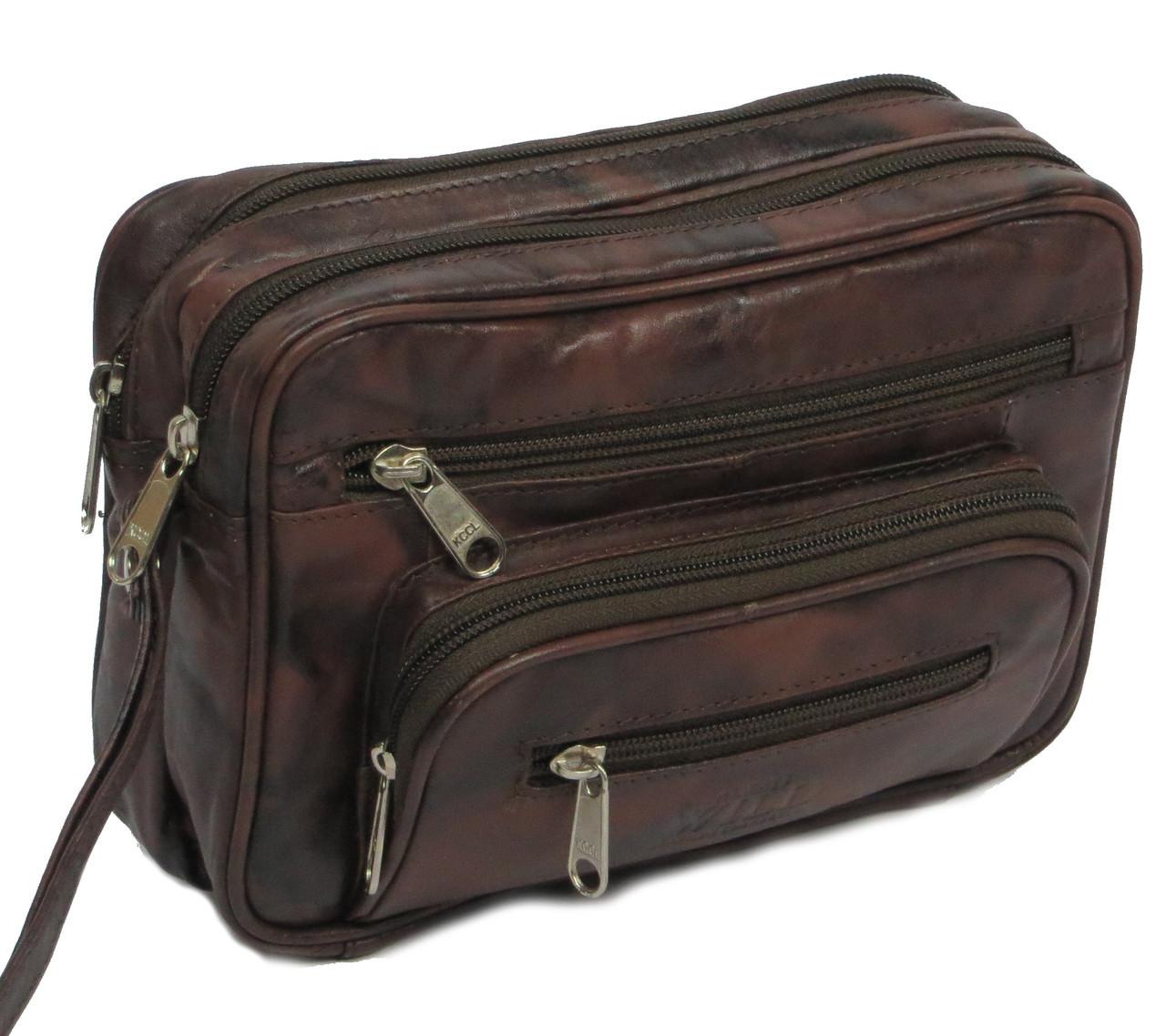 Сумка-барсетка кожаная Always Wild 905-TT коричневый, фото 1