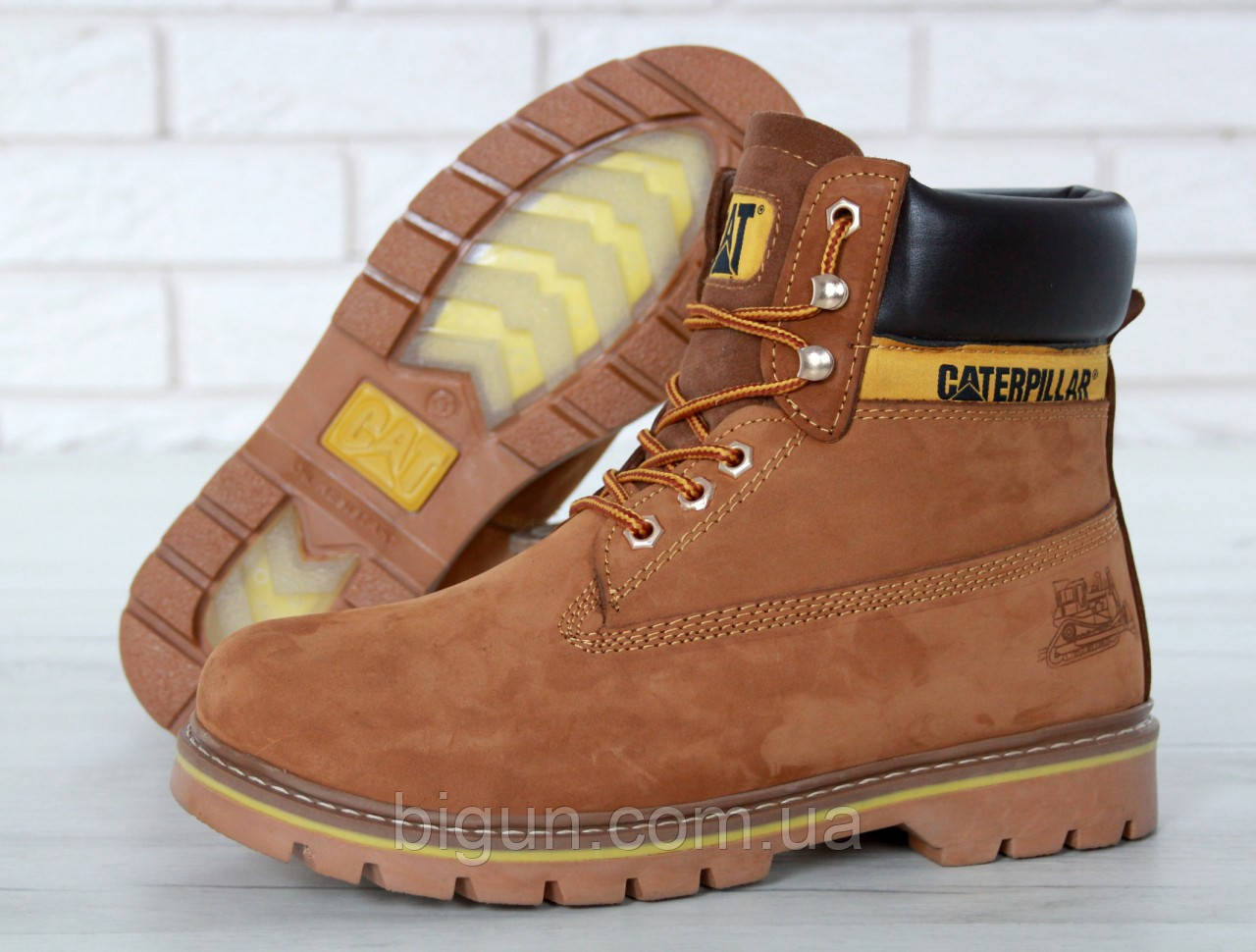 4ed27b888 Женские зимние ботинки Caterpillar (CAT) коричневые, Катерпиллер на меху -