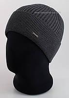 Мужская вязаная шапка Rocky F серый