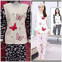 Пижама женская теплая Бабочки