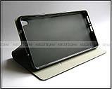 Черный чехол книжка Elegant для Lenovo phab pb1-750m в коже PU, противоударный , фото 3