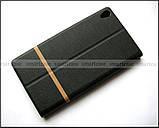 Черный чехол книжка Elegant для Lenovo phab pb1-750m в коже PU, противоударный , фото 5