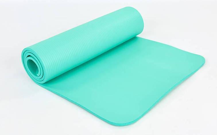 Коврик для йоги и фитнеса NBR 10мм SP-Planeta мятный, фото 2