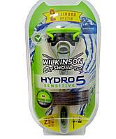 Верстат Wilkinson - Sword Hydro 5 Sensitiv Rasierer 1 + 2 картриджа.