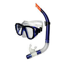 Маска для плавания Spokey Coral Junior (original) Польша, комплект с трубкой, маска для ныряния, детская