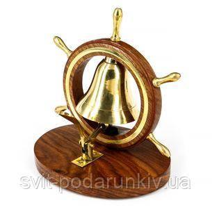 Настольный звонок в виде морского колокола - фото