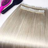 Тресс на заколках 60 см. Колір #Блонд, фото 6