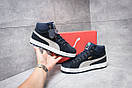 Зимние кроссовки Puma Suede, темно-синие (30161) размеры в наличии ► [  44 (последняя пара)  ], фото 2