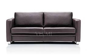 Диван для зоны ожидания Style экокожа коричневая (Velmi TM)