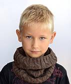 Зимний шарф хомут на флисе Зигзаг: синий, пудра, изумруд, серый, молоко, св.серый, коричневый, бордо, красный
