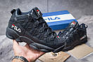 Зимние кроссовки  на меху Fila Spaghetti, темно-синие (30462) размеры в наличии ► [  41 42 43 46  ], фото 2