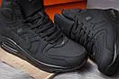 Зимние ботинки  на мехуNike Air Max, черные (30472) размеры в наличии ► [  44 (последняя пара)  ], фото 6