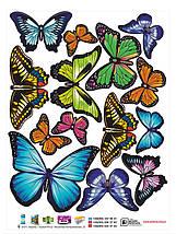 Наклейки бабочки самоклеющиеся для украшения дома 28, фото 2