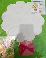 """Листівка-саморобка вітальна велика 37*30 см з наліпками """"Дерево з квітами"""""""