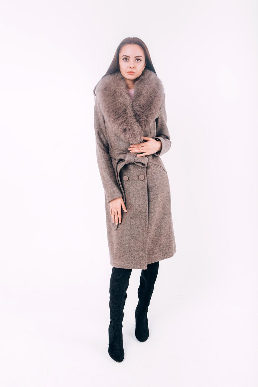 Длинное пальто из шерсти зимнее Д 258