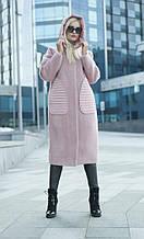 Женское демисезонное длинное пальто