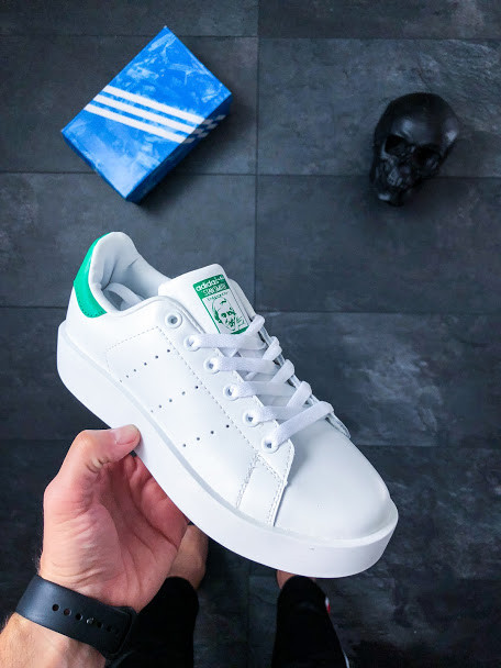 d8102652467620 Женские кроссовки Adidas Stan Smith Bold W (Ftwr White / Ftwr White / Green)