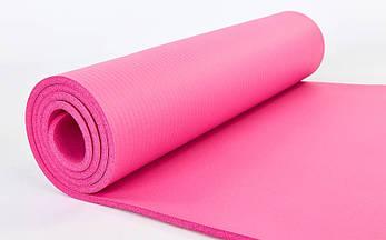 Коврик для йоги и фитнеса NBR 10мм SP-Planeta розовый, фото 2