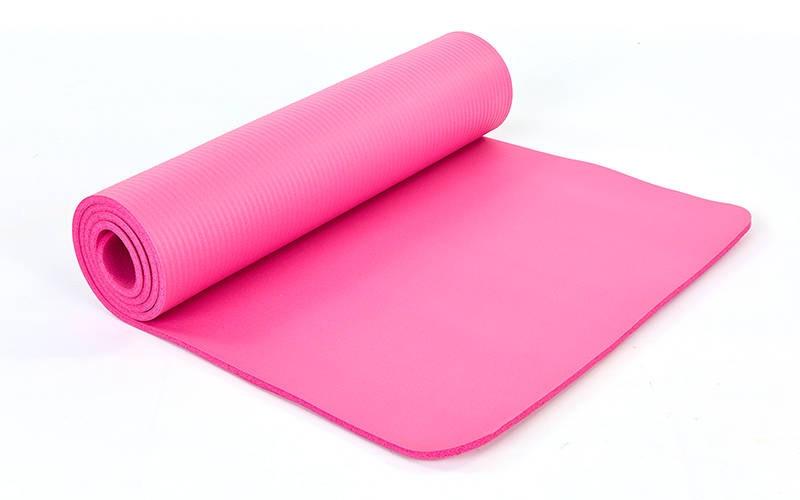 Коврик для йоги и фитнеса NBR 10мм SP-Planeta розовый