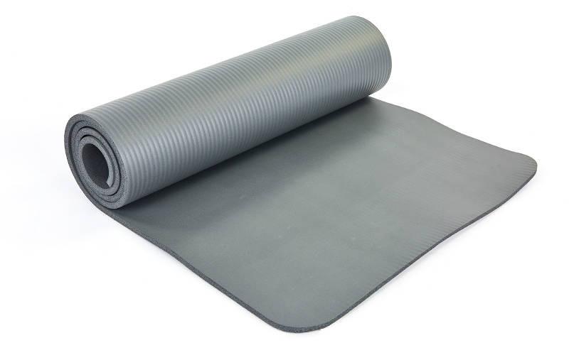 Коврик для йоги и фитнеса NBR 10мм SP-Planeta серый