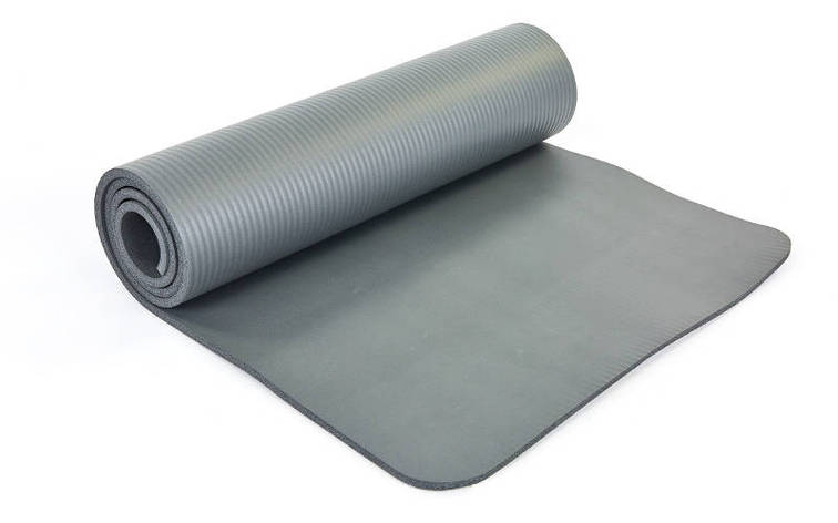 Коврик для йоги и фитнеса NBR 10мм SP-Planeta серый, фото 2
