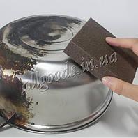 Губка меламиновая коричневая с напылением