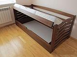 Ліжко дитяче з натурального дерева з підйомнім механізмом Колобок Дрімка, фото 8