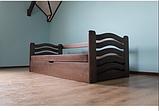 Ліжко дитяче з натурального дерева з підйомнім механізмом Колобок Дрімка, фото 9